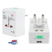 NTR ADAP40 Utazó hálózati világ adapter EU AU UK US aljzat/dugvilla+ USB 5V 1A töltő aljzat