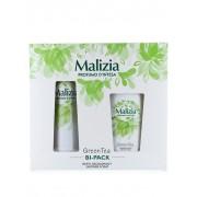 Malizia Caseta femei:Spray deodorant+Gel de dus 150+250 ml Green tea