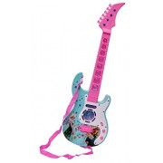 JINKRYMEN FROZEN Musical Guitar with Music, Lights and Pre-loaded Sounds, Pink Blue