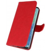Rood Bookstyle Wallet Cases Hoesje voor Huawei Mate 20 Pro