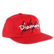 Berretto SLAYER - DIAMOND - non strutturati - Rosso - RED_B20DMHG302S