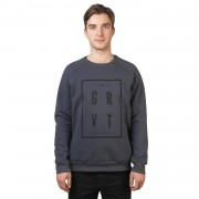 Gravity Mikina Gravity Square Crew dark grey
