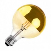 efectoled.com Bombilla LED E27 Regulable Filamento Gold Reflect Supreme G125 6W