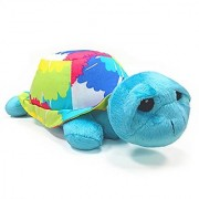 One Grace Place Terrific Tie Dye Stuffed Toy Turtle Aqua Blue Royal Blue Purple Yellow Green Orange Pink Red and