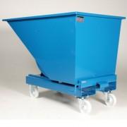 Rolléco Chariot benne 150 litres Gris = Métal