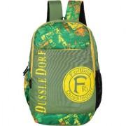 Dussledorf Leonardo Polyester 18 Liters Green Laptop Backpack (LEO-I-1414)
