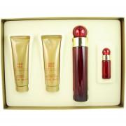 360 Red de Perry Ellis para Dama 100 ml Eau De Parfum Spray + 90 ml Shower Gel + 90 ml Body Lotion + 7.5 ml Mini EDP