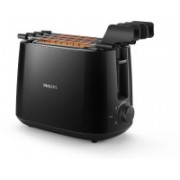 Philips Daily Collection HD2583/90 600-Watt 2 in 1 Toaster and Grill Grill(Balck)