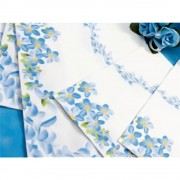 Servetele de masa cu flori albastre pentru petrecere 33 cm, set 20 buc