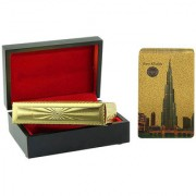 Gold Dust's Burj Khalifa Playing Card with Wooden Box