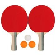 Get & Go Tafeltennisset 2 Bats Incl. 3 Ballen 2 Sterren