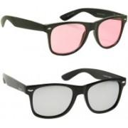 Phenomenal Wayfarer Sunglasses(Pink, Silver)