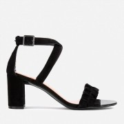 Ted Baker Women's Floxen Suede Block Heeled Sandals - Black - UK 3 - Black