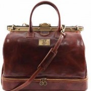 TUSCANY LEATHER Sac de Voyage ou Medecin Cuir Double Fond Marron -Tuscany Leather-