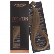 Poze Standard Keratin Extensions Light Ash Brown 8A - 50cm