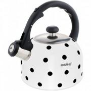 Свирещ чайник Kinghoff KH 1053, 2,6 литра, Подходящ за индукция, Неръждаема стомана