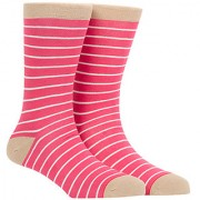 Soxytoes Stripe 1 Off-White Cotton Calf Length Pack of 1 Pair Striped for Men Formal Socks (STS0004C)