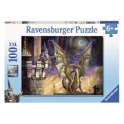Puzzle Dragon de foc, 100 piese