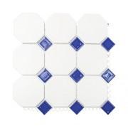 Mozaic ceramic Octa G 944N alb/albastru 30x30 cm