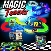 Kids track toys unbreakable tracks glows in the dark magic tracks