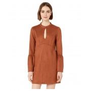 BCBGeneration Day Flare Sleeve Neck Tie A-Line Dress Cinnamon