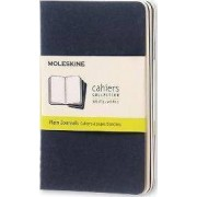 Moleskine Plain Cahier - Navy Cover (3 Set)