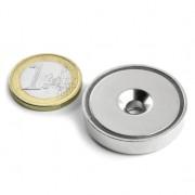 Magnet neodim oala cu gaura ingropata, Fi 32 mm, putere 30 kg