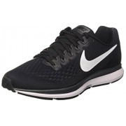 Nike Men's Air Zoom Pegasus 34 White Black Running Shoes(880555-001) (UK-9 (US-10))