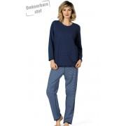Comtessa Blauwe dames pyjama Comtessa omkeerbaar