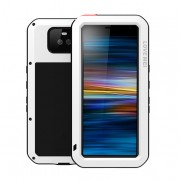 LOVE MEI Dust-proof Shock-proof Splash-proof Defender Phone Casing for Sony Xperia 10 - White