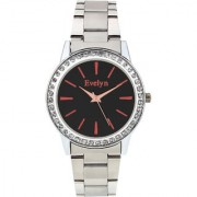 Evelyn Eiffel Tower Black Dial Analogue Metal Strap Wrist Watch For Girls - Women -eve-558