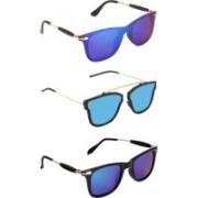 Pogo Fashion Club Wayfarer, Retro Square Sunglasses(Blue)