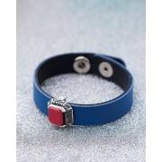Dare by Voylla Blue & Red Milestone Leather Bracelet