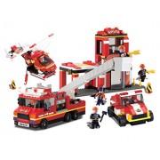 Fire Station with Sound & Lights - Building Set by Brictek (11304)