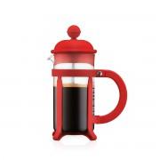Bodum JAVA Cafetière à piston, monture et couvercle en plastique, 3 tasses, 0.35 l Rouge