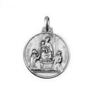 medaglia madonna di pompei in argento