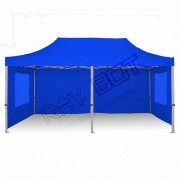 ray bot Gazebo pieghevole 3x6 blu professionale con finestre PVC 350g