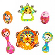EastSun Early Education 0-1 Years Olds Baby Musical Instruments Toy Set Timbrel Maracas Sand Eggs Shaker Hand Bells Bell Drum Rattle for & Kids Boys and Girls