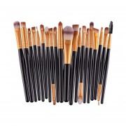 20 piezas brochas de maquillaje de oro rosa Set Pro polvo rubor base sombra de o(#2)