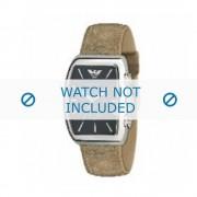 Giorgio Armani bracelet de montre AR-0907 Cuir Brun clair 22mm