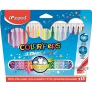 """Filc készlet 18db-os MAPED """"Color Peps"""" mosható"""