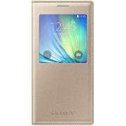 Husa S-View Samsung EF-CA700 pentru Samsung Galaxy A7 (Auriu)