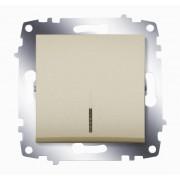 ABB Выключатель ABB Cosmo 619-011400-201 Титаниум