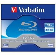BD-R BluRay lemez, kétrétegű, 50GB, 6x, normál tok, VERBATIM (BRV-6DL)