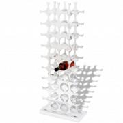 vidaXL Suporte/cremalheira do vinho de alumínio para 40 garrafas, prateado