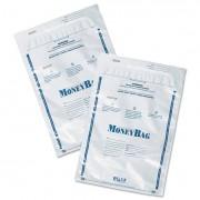 Tamper-Evident Deposit Bags, 9 X 12, Plastic, White, 100 Per Pack