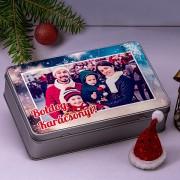 Fényképes karácsonyi fémdoboz
