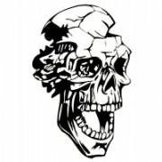 Adesivo Skull 003 - Nero