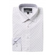 Report Collection Slim Fit Ditsy Print Dress Shirt 56 LAVENDE