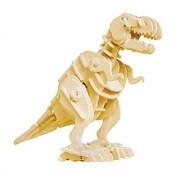 Robotime Sound Control 3d Wooden Dinosaur Puzzle Toy Walking T Rex, Clap To Make It Walk